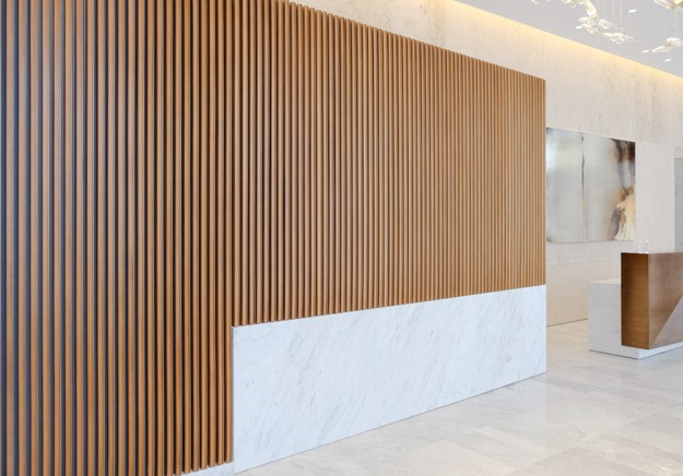 Waterline Square, millwork and metalwork