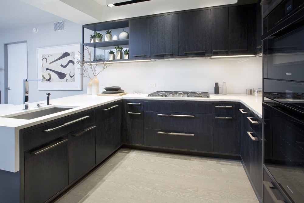 Refined kitchen cabinetry, vanities & medicine cabinets for a luxury building in West Soho.
