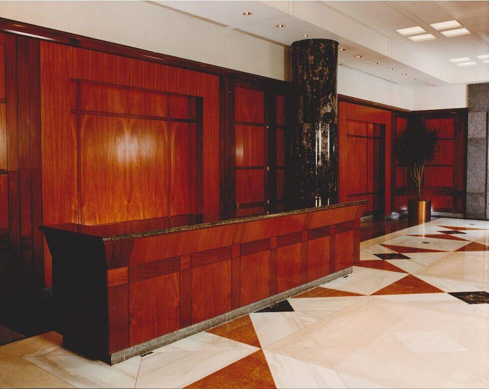 Mahogany-Reception-Desk-Wall-Panels