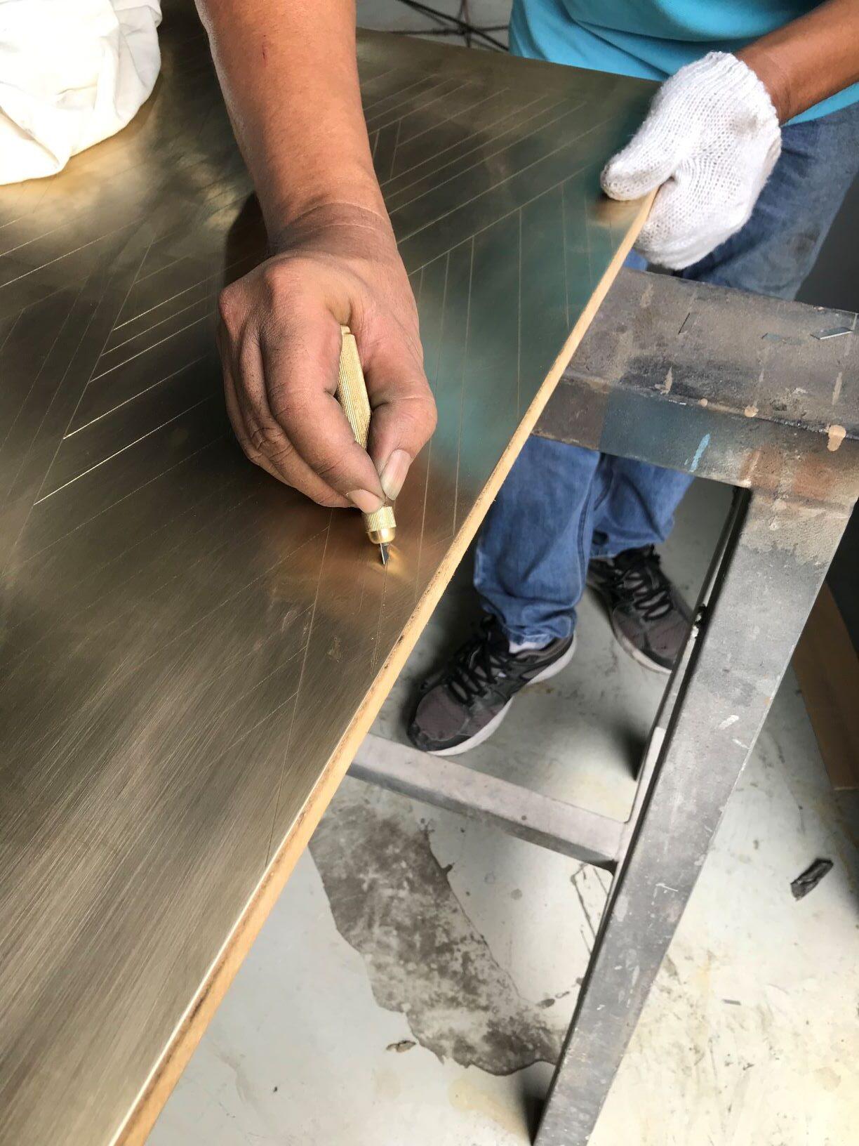 metal inlay
